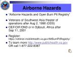 airborne hazards
