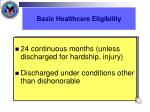 basic healthcare eligibility