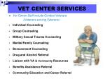 vet center services