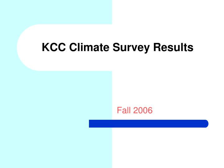 kcc climate survey results n.