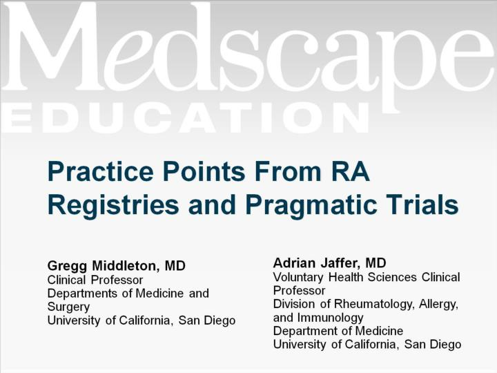 practice points from ra registries and pragmatic trials n.