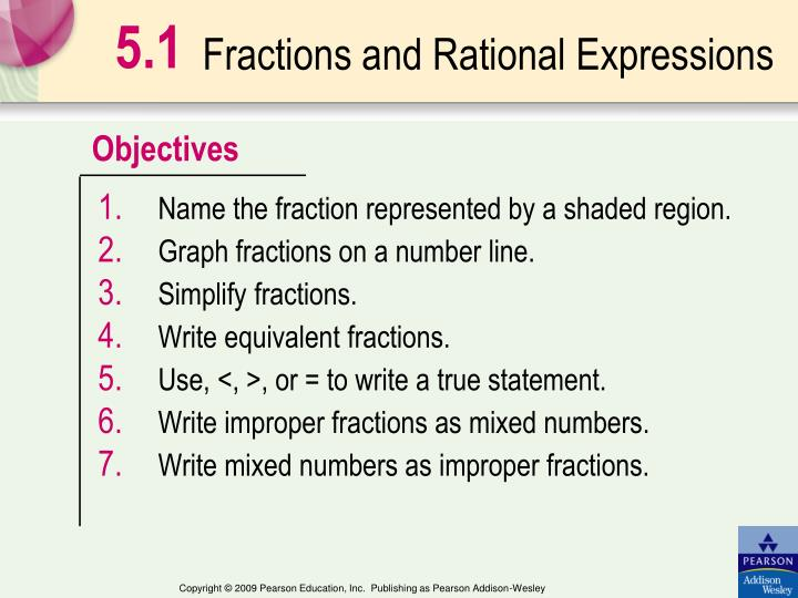 fractions and rational expressions n.