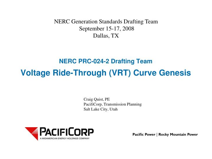 nerc prc 024 2 drafting team voltage ride through vrt curve genesis n.