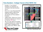time duration voltage traces new nerc std