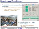 detector and run control