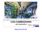 lhc b commissioning and operation
