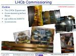 lhcb commissioning