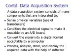 contd data acquisition system