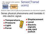 sensor transducers