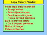 legal theory pleaded