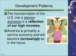 development patterns