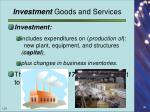 investment goods and services