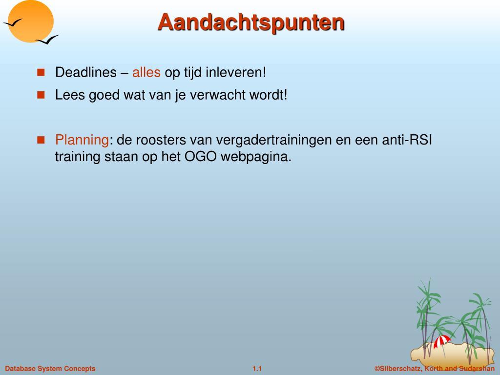 Aandachtspunten ppt - aandachtspunten powerpoint presentation, free download