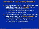 interfacing c and assembly examples