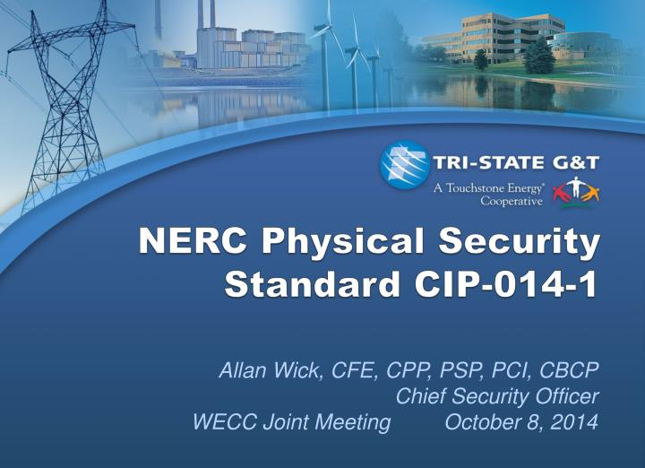 nerc physical security standard cip 014 1 n.