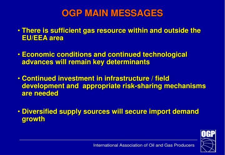 Ogp main messages