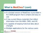 what is medchex cont