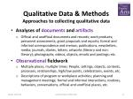qualitative data methods approaches to collecting qualitative data1
