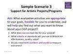sample scenario 3 support for artistic projects programs1
