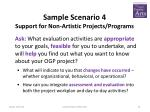 sample scenario 4 support for non artistic projects programs1