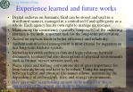 experience learned and future works