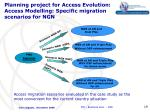 planning project for access evolution access modelling specific migration scenarios for ngn