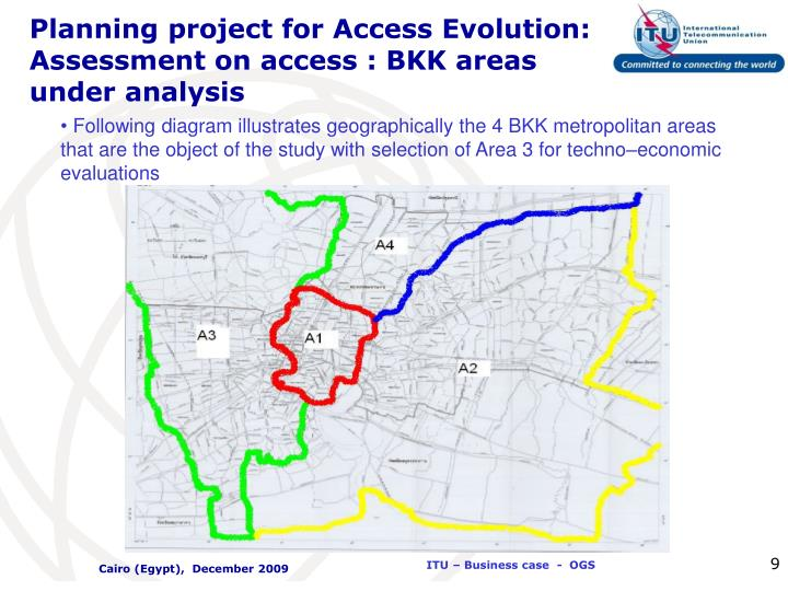 Planning project for Access Evolution: Assessment on access : BKK areas under analysis
