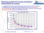 planning project for access evolution assessment on access3