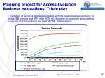 planning project for access evolution business evaluations triple play