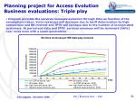 planning project for access evolution business evaluations triple play5