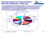 planning project for access evolution business evaluations triple play6