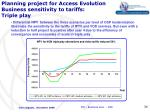 planning project for access evolution business sensitivity to tariffs triple play