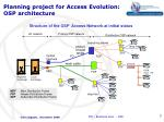 planning project for access evolution osp architecture