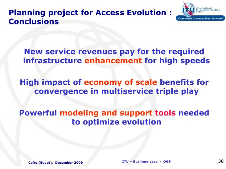 Planning project for Access Evolution