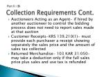 collection requirements cont