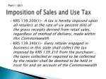 imposition of sales and use tax