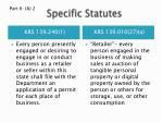 specific statutes