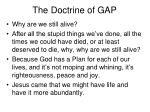 the doctrine of gap11