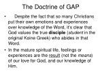 the doctrine of gap2