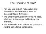the doctrine of gap29