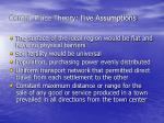 central place theory five assumptions