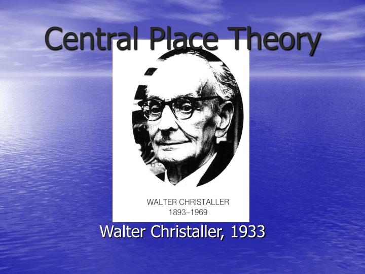 central place theory n.