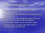 central place theory1