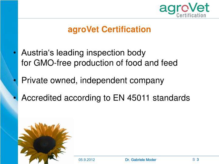 Agrovet certification