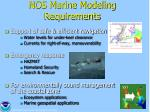 nos marine modeling requirements