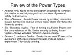 review of the power types