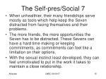the self pres social 73