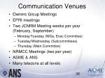 communication venues