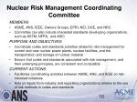 nuclear risk management coordinating committee