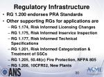 regulatory infrastructure